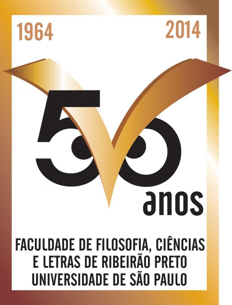 FFCLRP USP 50 anos - logotipo comemorativo - em cores